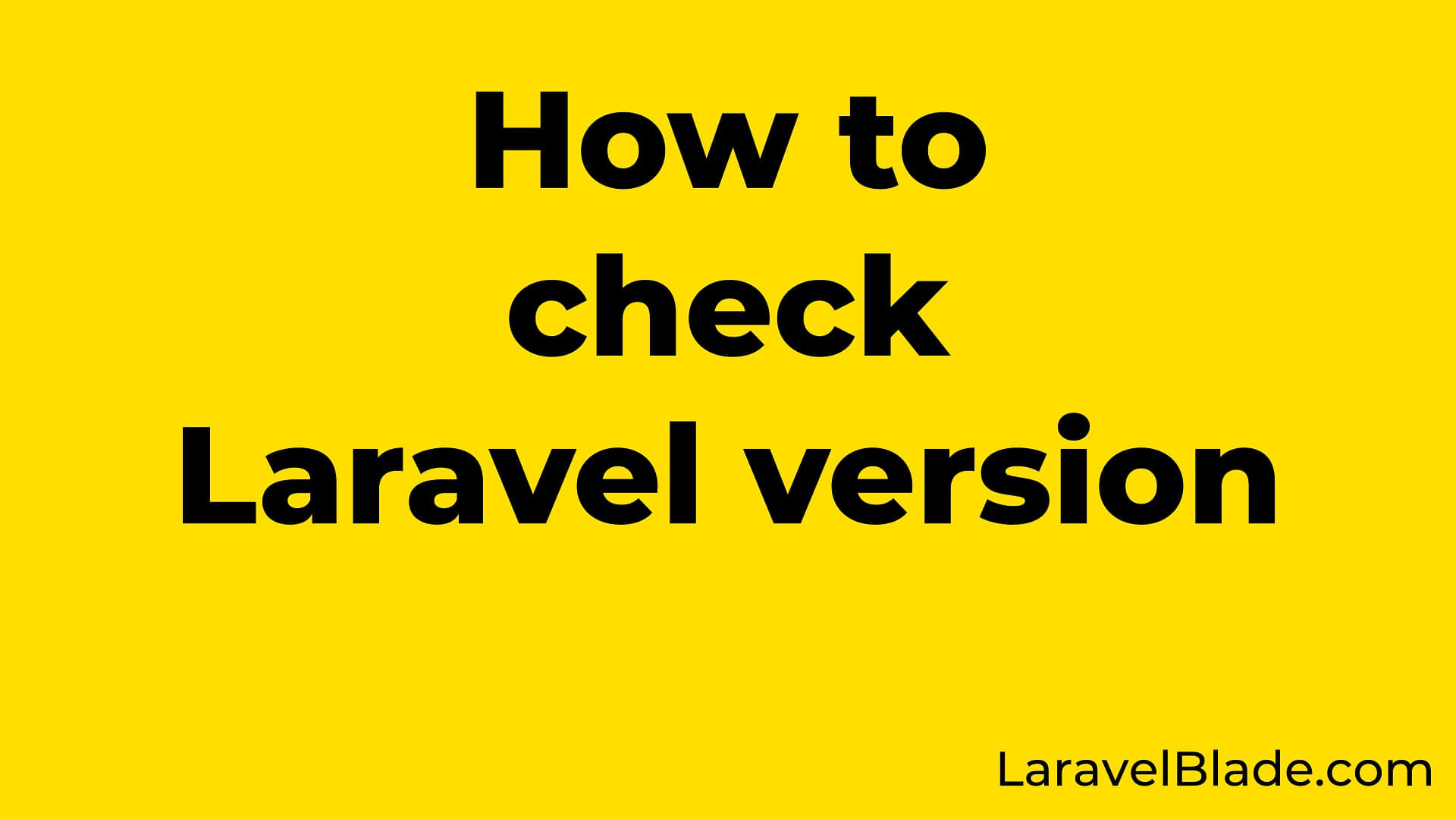 How to check Laravel Version