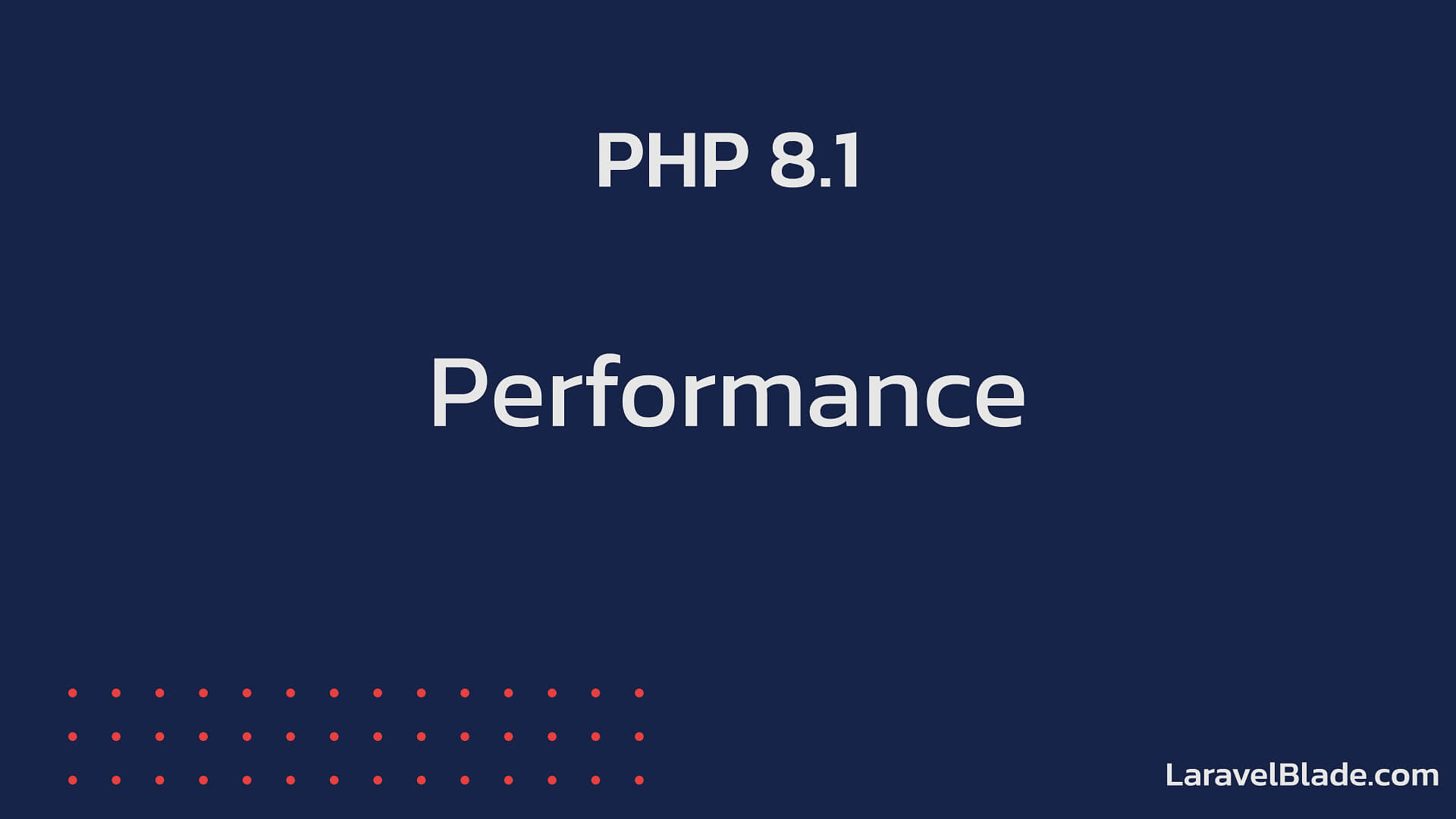 PHP 8.1 - Performance